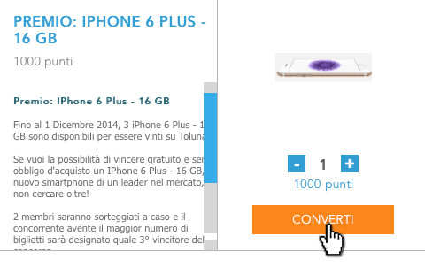 vincere un iphone all'asta