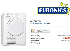 Asciugatrice Whirlpool in offerta su Euronics.it