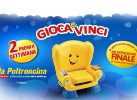 Pampers: gioca e vinci una poltroncina Fisher Price