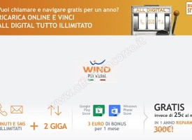 Wind: ricarica online e vinci l'offerta All Digital