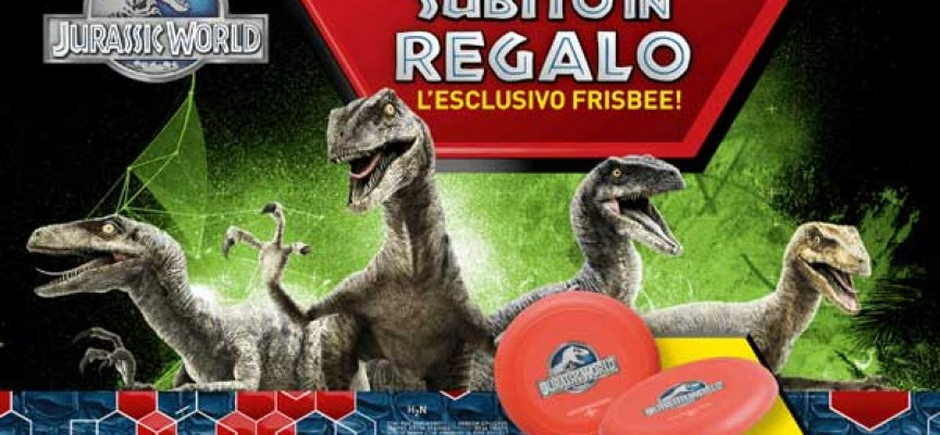 Toys Center ti regala l'esclusivo frisbee di Jurassic World