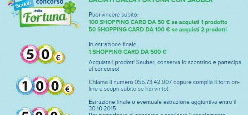 Vinci Shopping Card con Sauber