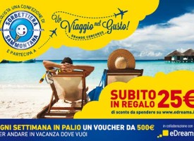 Vinci voucher Edreams con Sammontana