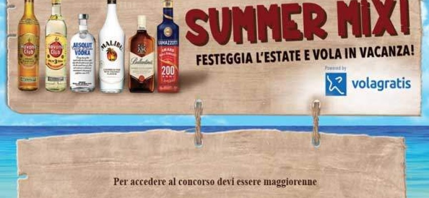 Vola gratis in vacanza con Summer Mix