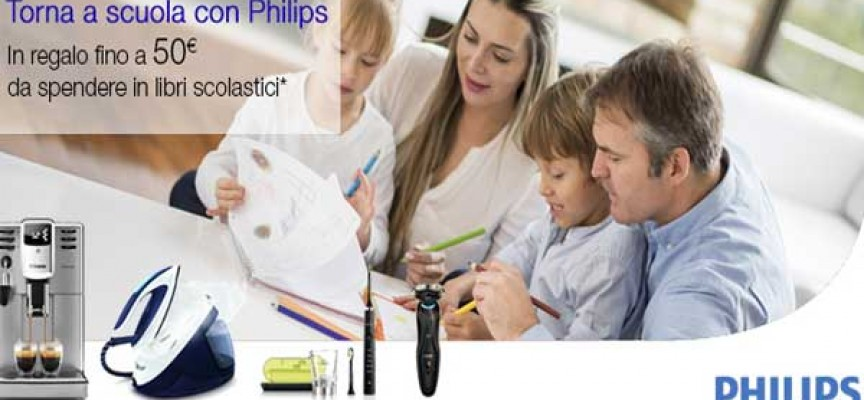 Philips e Amazon ti regalano fino a 50€ da spendere in libri scolastici