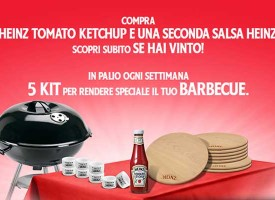 Vinci un kit barbecue con Heinz