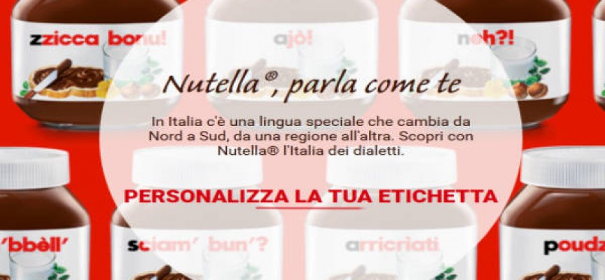 Nutella ti parla in dialetto