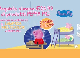 Toys Center illumina il Natale con la Lampada Multicolor di Peppa Pig