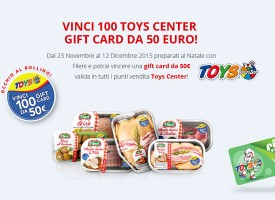 Vinci una Toys Center Gift Card da 50 euro con il concorso Fileni