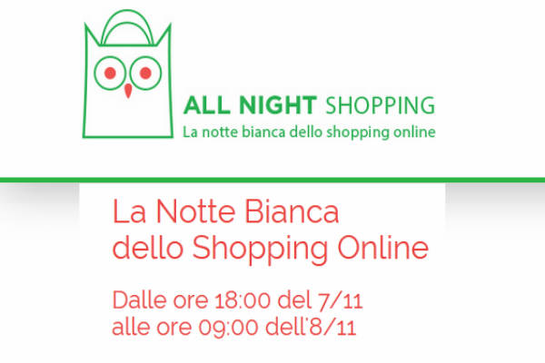 All Night Shoppihn: la notte bianca dello shopping on-line