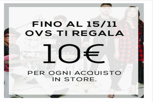 OVS ti regala 10 euro per ovs.it