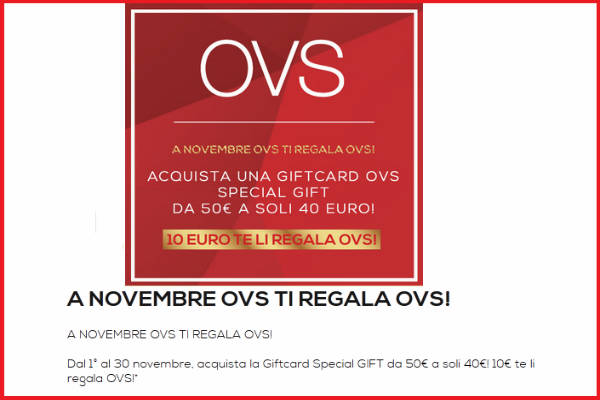 Promo OVS GiftCard