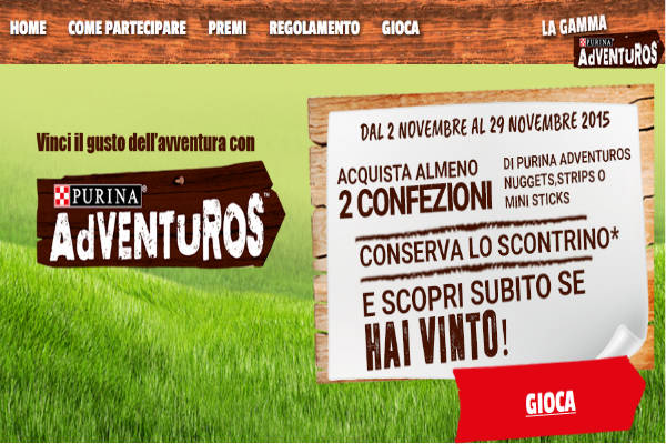 Vinci una fornitura Purina Adventuros