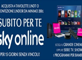 Guarda il grande cinema di Sky On-line con Lindt