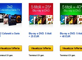 Dvd e Blu-Ray su Amazon in offerta: usa il codice!