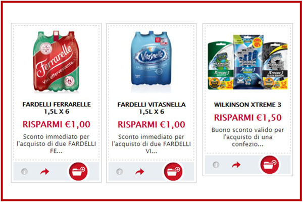 coupon acqua wilkinson