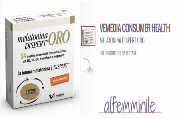 tester AlFemminile Melatonina Dispert Oro