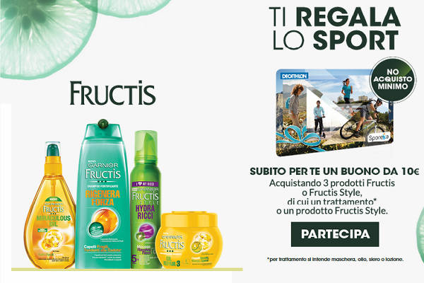 Fructis ti regala Decathlon