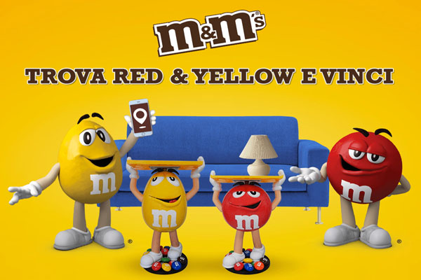 m&m's concorso red yellow