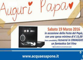 Festa del papà 2016, A&S ti regala il set da vino