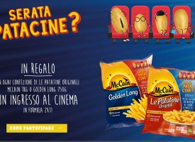 McCain ti regala un ingresso al cinema in formula 2×1