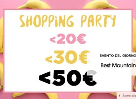 BrandAlley: Shopping Party con numerosi articoli a meno di 20, 30 e 50 €