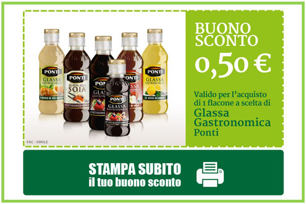 ponti glassa coupon