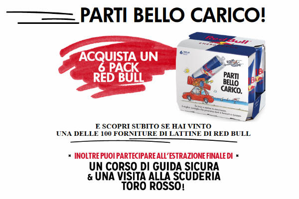 red bull bello carico