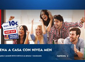 Nivea Men ti regala un buono Just Eat o Foodscovery da 10 euro