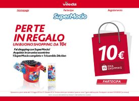 SuperMocio Vileda ti regala un buono Idea Shopping da 10€