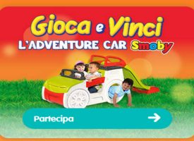 Vinci l'Adventure Car di Smoby con Pampers Baby Dry