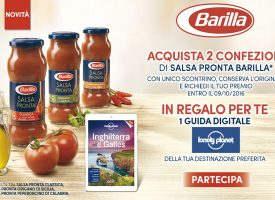 Esselunga e Salsa Pronta Barilla ti regalano le guide Lonely Planet