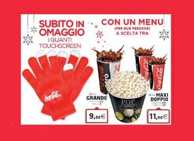Coca-Cola e UCI Cinemas ti regalano i guanti touch screen
