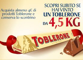 Con Carrefour vinci un Toblerone Limited Edition