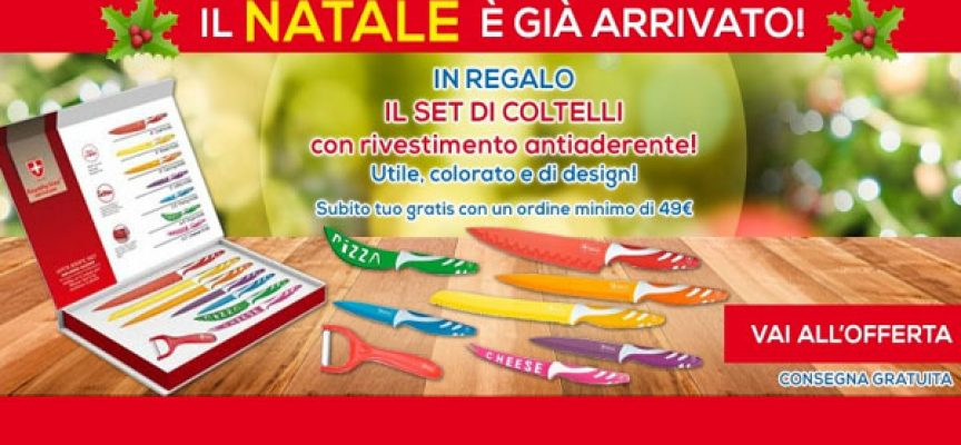 Acquista su Casa Henkel e ricevi in regalo un set di coltelli