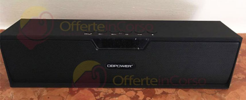 Altoparlante Bluetooth Portatile DBPOWER BX 100: recensione e coupon sconto del 10%