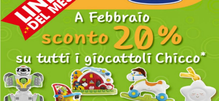 Linea Chicco in sconto da Toys Center