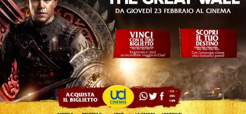 "Scopri il tuo destino e vinci con ""The Great Wall"""