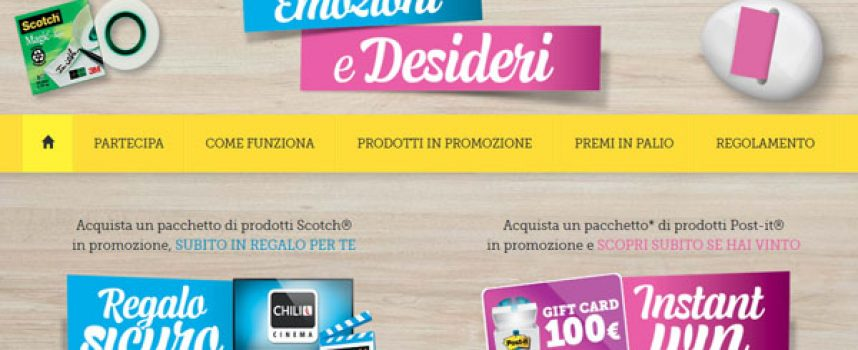 "Regalati ""Emozioni e Desideri"" con Scotch e Post-it"