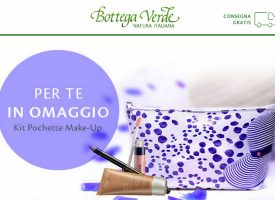 Bottega verde regala la pochette make-up