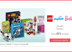 Lego, Barbie e Playmobil scontati fino all'80% su BrandAlley