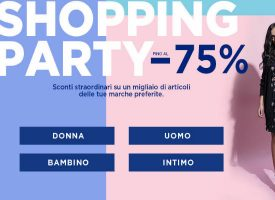 Shopping Party su Brandalley: sconti fino al 75%