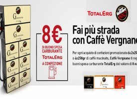 Caffè Vergnano ti regala buoni carburante TotalErg