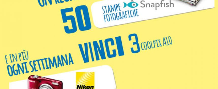 Vinci una fotocamera Nikon Coolpix con Mr. Day