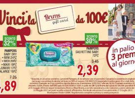 Con Pampers vinci una Gift Card Brums da 100 euro