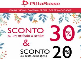Weekend di sconti da Pittarosso