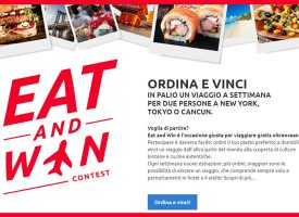 Eat and Win: ordina e vinci un viaggio per due persone con Just Eat