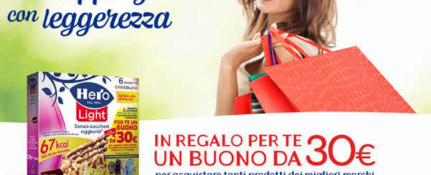 Hero Light ti regala 30 euro per il tuo shopping