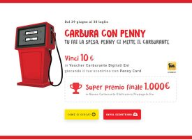 Carbura con Penny: in palio 2.200 voucher carburante Eni da 10 euro