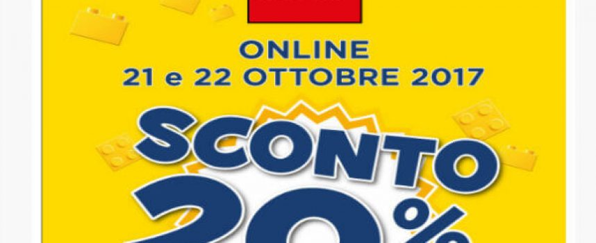 Week-end di sconti online Lego